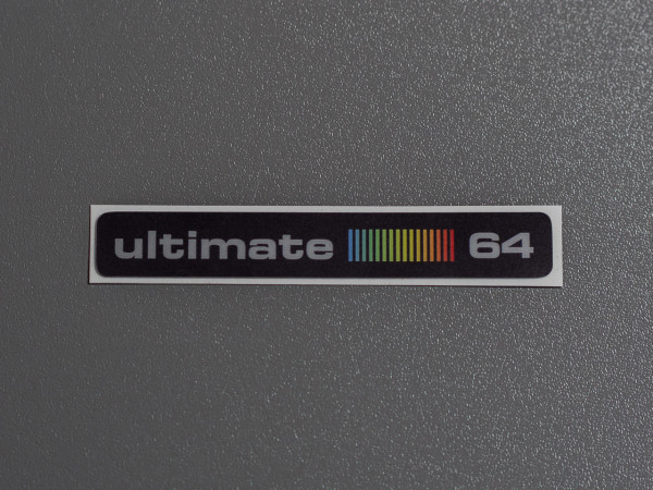 "C64C Label ultimate 64 ""RetroBlack"" Aufkleber"