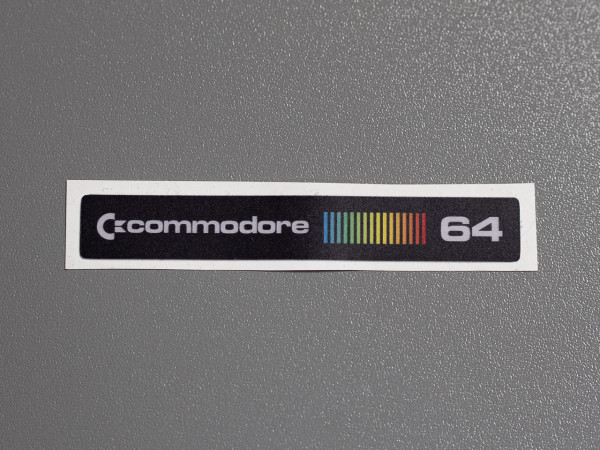 "C64C Label Commodore ""RetroBlack"" Aufkleber"