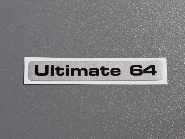 "C64C Ultimate 64 ""Silver Label"" Aufkleber"