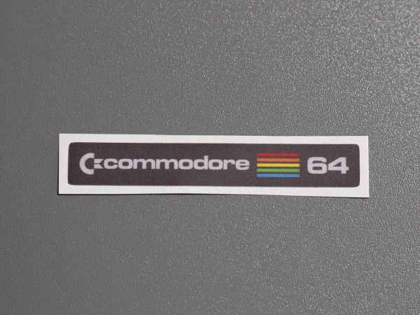 "C64C Label Commodore ""Brotkasten"" Aufkleber"
