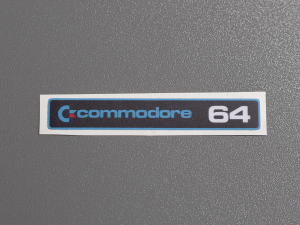 "C64C Label Commodore ""SX-64"" Aufkleber"